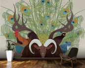 Fauna mural wallpaper kitchen preview