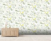 Ambrosia unicorns mural wallpaper living room preview