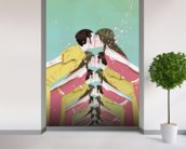 Spring love wall mural in-room view
