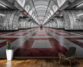 Prague Metro mural wallpaper kitchen preview