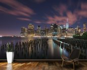 New York City at Night mural wallpaper kitchen preview