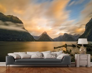 Milford Sound Sunrise wallpaper mural