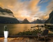 Milford Sound Sunrise wallpaper mural kitchen preview