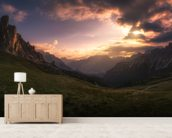 Mountain Valley wallpaper mural living room preview