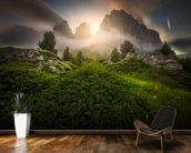 Dolomia Sunset mural wallpaper kitchen preview
