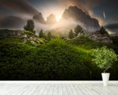 Dolomia Sunset mural wallpaper in-room view