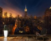 NYC Skyline at Dusk mural wallpaper kitchen preview