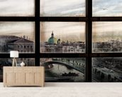 Venice Window mural wallpaper living room preview