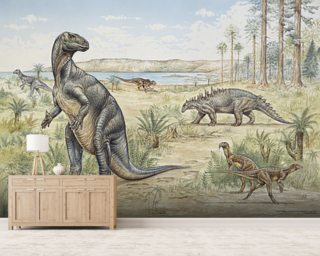 Lower Cretaceous Dinosaurs wall mural