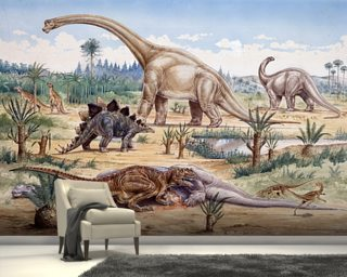 Ceratosaurus Feeding Time Wallpaper Wall Murals
