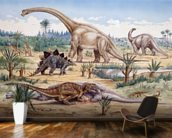 Ceratosaurus Feeding Time mural wallpaper kitchen preview