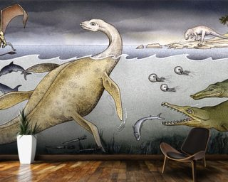 Life on Jurassic Shores wall mural