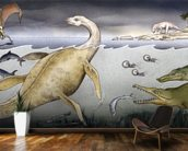 Life on Jurassic Shores wall mural kitchen preview