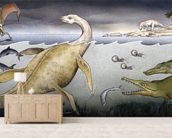 Life on Jurassic Shores wall mural living room preview