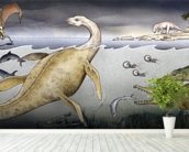 Life on Jurassic Shores wall mural in-room view