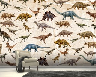 Dinosaurs Pattern wall mural