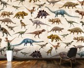 Dinosaurs Pattern wall mural kitchen preview
