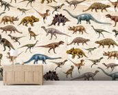 Dinosaurs Pattern wall mural living room preview