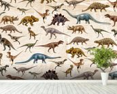 Dinosaurs Pattern wall mural in-room view