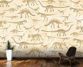 Dino Walking Skeletons mural wallpaper kitchen preview