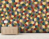Textured Polygon wallpaper mural living room preview