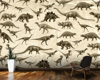 Dinosaurs (Antique) wall mural