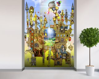 Castles in the air wall mural