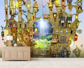 Castles in the air wall mural living room preview