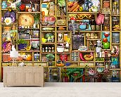 Kitchen Cupboard mural wallpaper living room preview