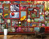 Big Red Box wallpaper mural kitchen preview