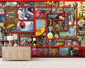 Big Red Box wallpaper mural living room preview