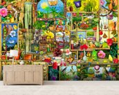 The Garden Cupboard mural wallpaper living room preview
