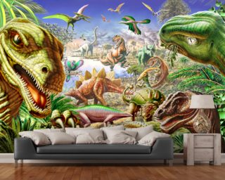 Dinosaurs World Wallpaper Wall Murals