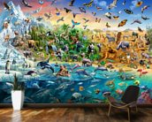 Endangered Species wall mural kitchen preview
