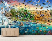 Endangered Species wall mural living room preview