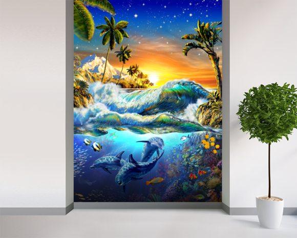 hawaiian dawn wall mural hawaiian dawn wallpaper wallsauce