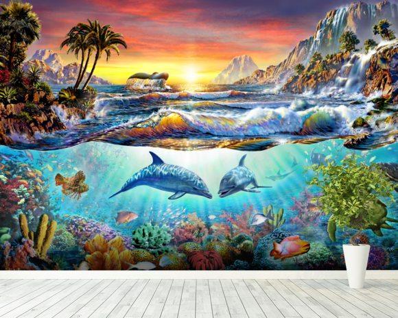 Paradise bay wall mural paradise bay wallpaper for Australian mural