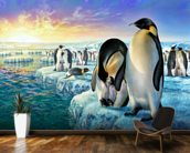 Penguins wall mural kitchen preview