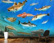 Sea Fish mural wallpaper kitchen preview