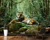Tiger in Jungle wallpaper mural kitchen preview