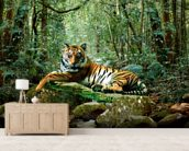 Tiger in Jungle wallpaper mural living room preview