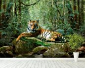 Tiger in Jungle wallpaper mural in-room view