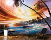 Tropical Beach mural wallpaper kitchen preview