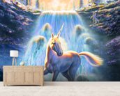 Unicorn Sunset wall mural living room preview