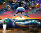 Universal Dolphins wallpaper mural kitchen preview