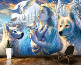 Spirit of the Mountain wall mural