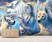 Spirit of the Mountain wall mural living room preview