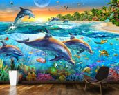 Dolphin Bay wallpaper mural kitchen preview