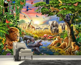 Waterhole Wallpaper Wall Murals