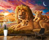 Lion Sunrise wallpaper mural kitchen preview